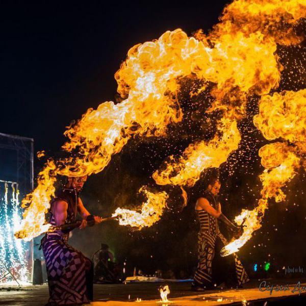 PolarLights огненное шоу